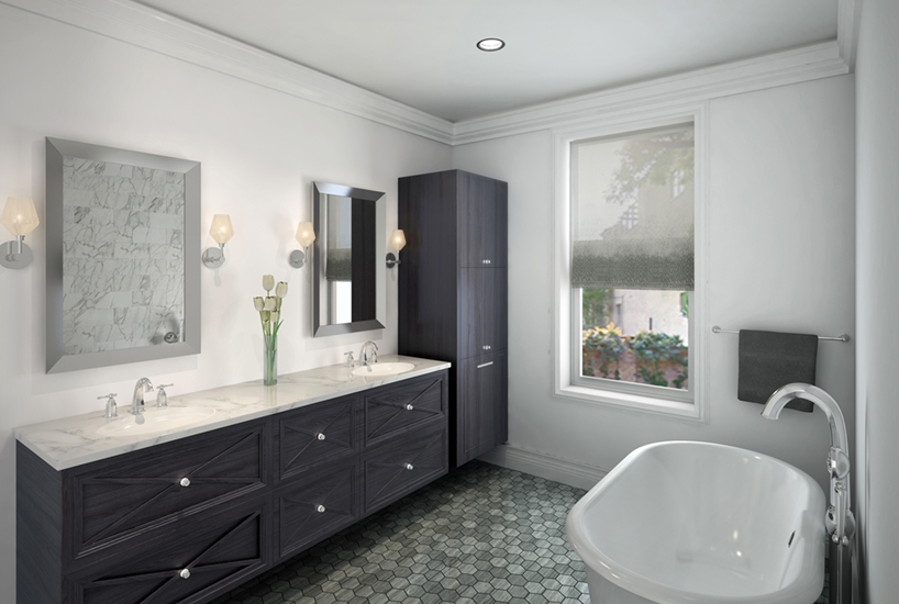 Menomonee Bathroom, Interior Design by Mia Rao Design