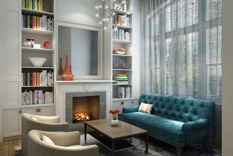 Menomonee Living Room, Interior Design by Mia Rao Design
