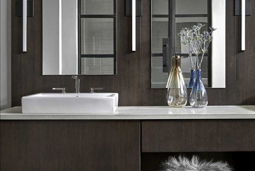 Penthouse Bathroom Vanity, Interior Design by Mia Rao Design