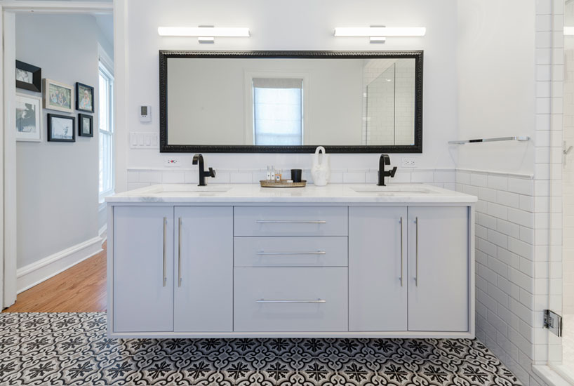 Queen Anne Bathroom Double Vanity Mirror