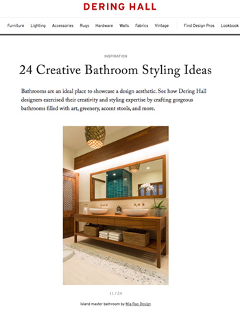 Mia Rao Interior Design in Dering Hall Creative Bathroom Styling Feature