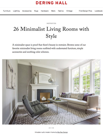 Mia Rao Interior Design in Dering Hall Minimalist Living Room Feature