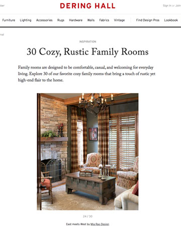 Mia Rao Interior Design in Dering Hall Cozy Rustic Family Rooms Feature