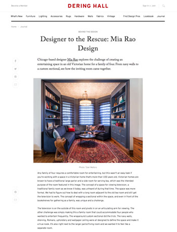 Mia Rao Interior Design in Dering Hall Designer to the Rescue Feature